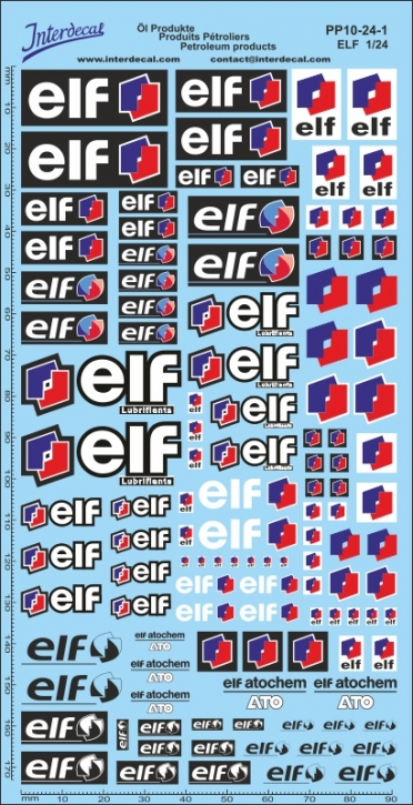 Öl Produkte 10-1 Elf Sponsoren Decal 1/24 (200x100 mm)