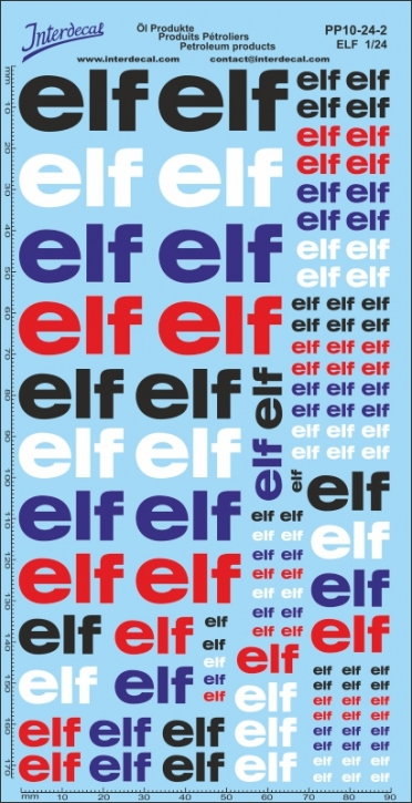 Petroleum products 10-2 Elf sponsors Decal 1/24 (200x100 mm)