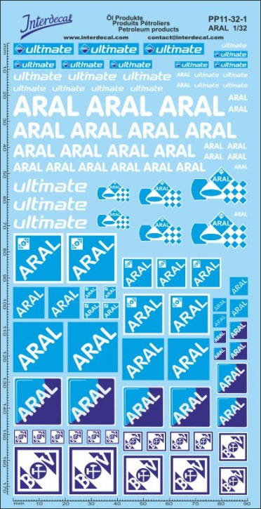 Öl Produkte 11-1 Aral Sponsoren Decal 1/32 (200x100 mm)