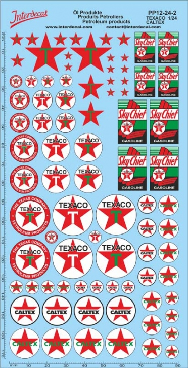 Petroleum products  12-2 Texaco/Caltex sponsors Decal 1/24 (195x100 mm)