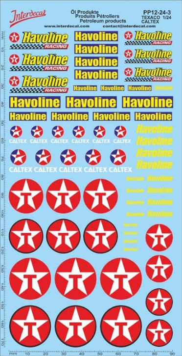 Petroleum products  12-3 Texaco/Caltex sponsors Decal 1/24 (195x100 mm)