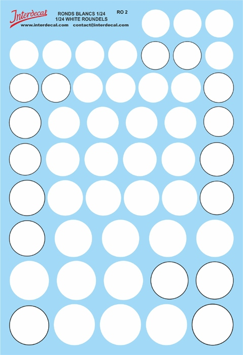 Kreise 15,0 - 22,0 mm 1/24  (130x190 mm)