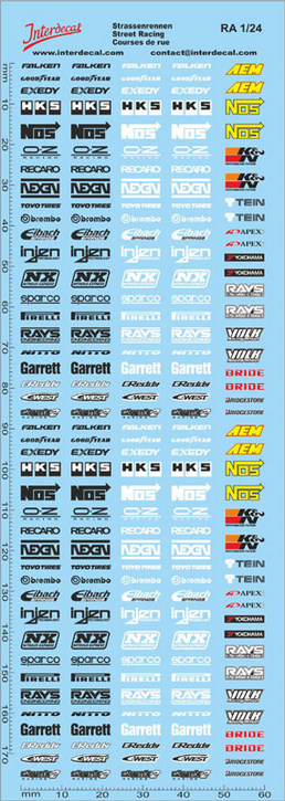 Street Racing Drift Decal 1//24 (180x60 mm)