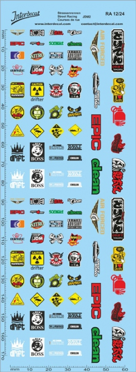 Street Racing Drift Decal 12  1/24 (180x60 mm)