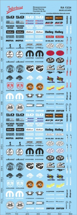 Street Racing Drift Decal 13  1/24 (180x60 mm)