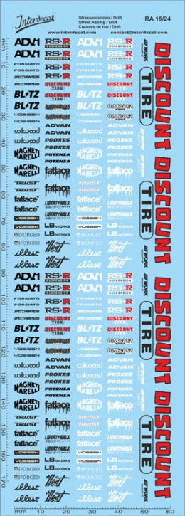 Street Racing Drift Decal 15  1/24 (180x60 mm)