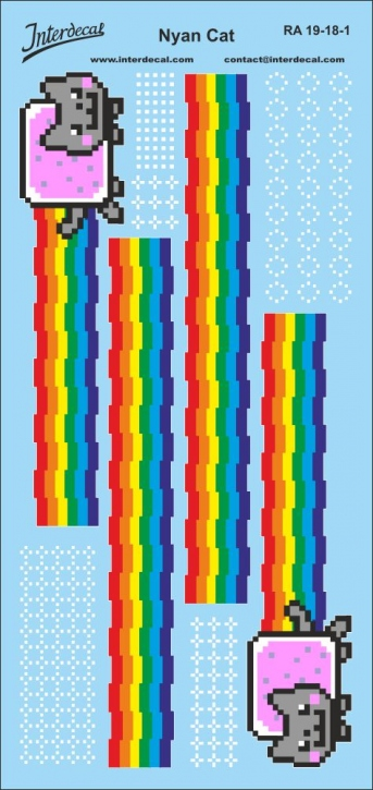 Nyan Cat Decal 1/18 (90x190 mm)