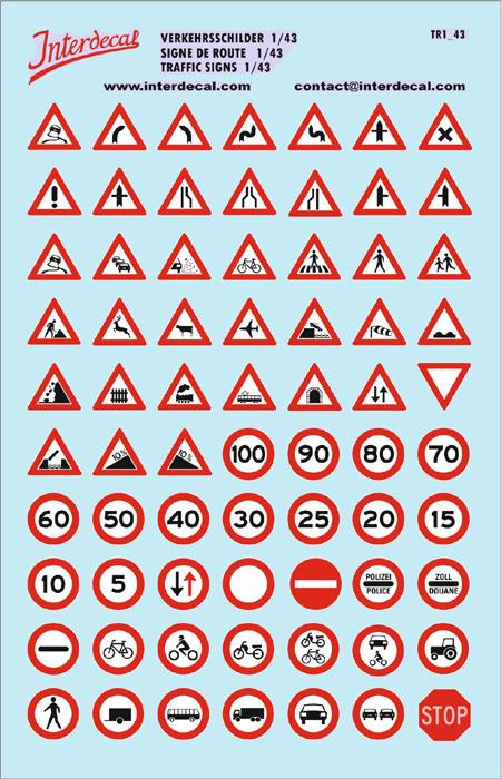 Verkehrsschilder DE 01 _1/43  (195x125 mm)