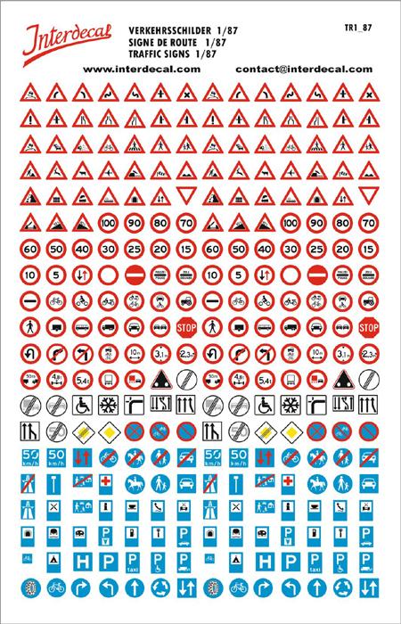 Traffic signs 01 _1/87  (195x125 mm)