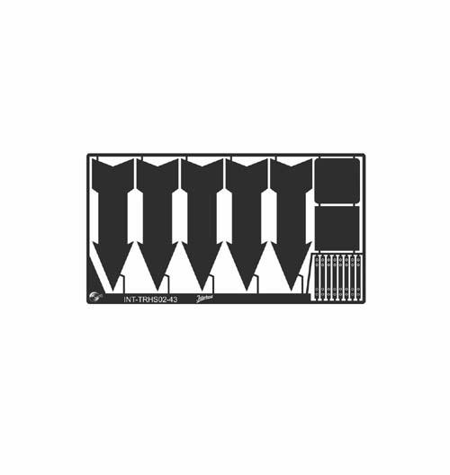 Metall Schild für historische Verkehrsschilder DE 02_1/43 (65x34 mm)