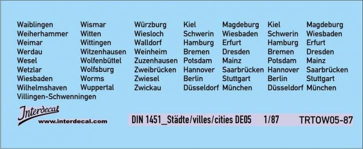 Traffic signs cities 05 DE_1/87  (90x37 mm)