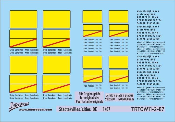 Traffic signs cities 11-2 DE_1/87 (90x63 mm)