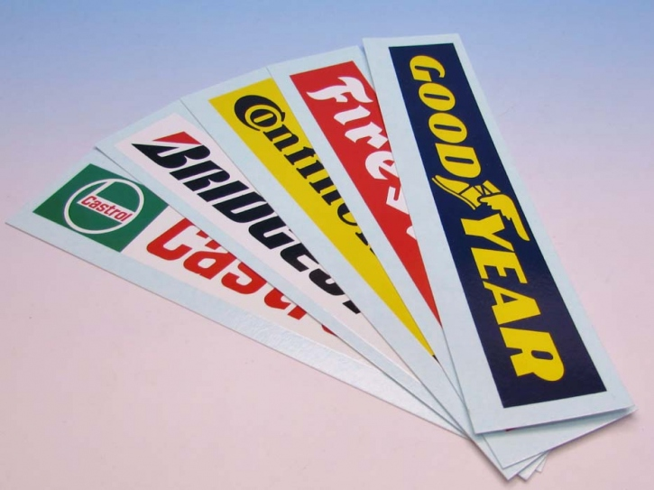 Sponsoren Werbetafel Decal Set 01 1/43
