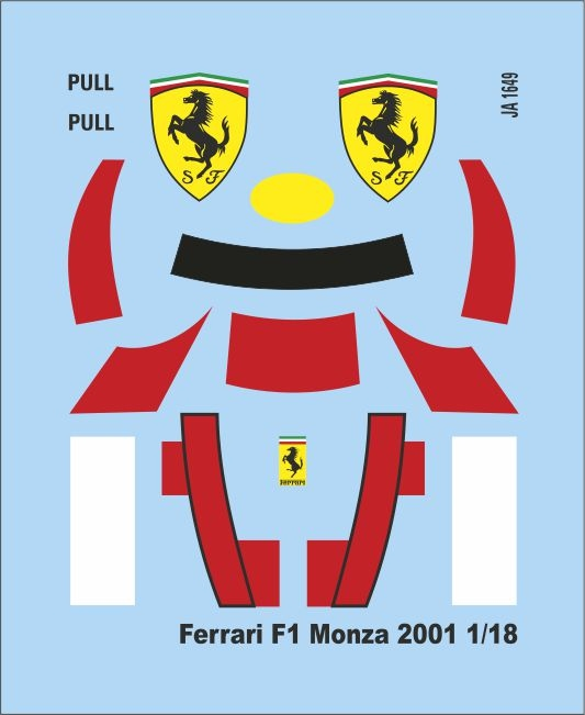 Add   F1 Monza 2001 1/18 (55x45 mm) 1/18 JA1649