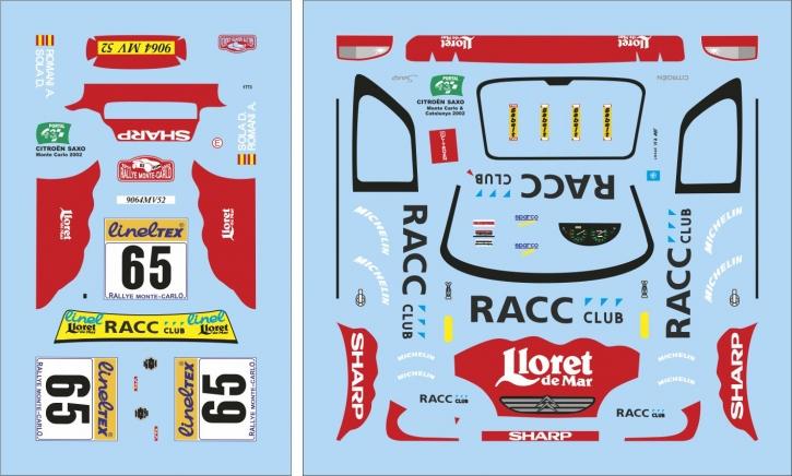 Citroen Saxo Monte Carlo 2002 1/43 JA1773