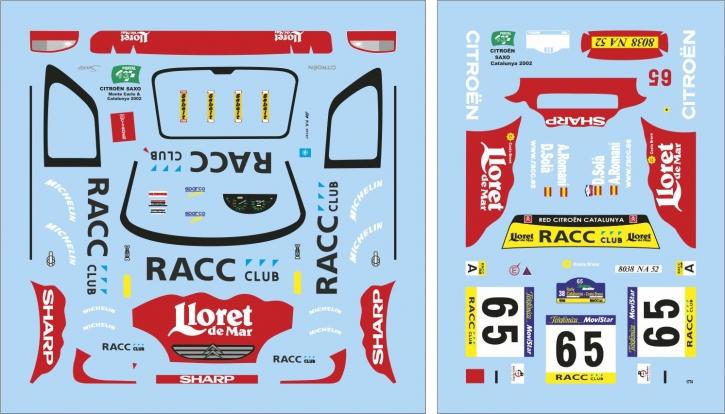 Citroen Saxo Rallye Catalunya 2002 1/43 JA1774