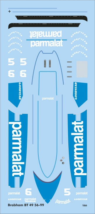 Brabham BT49 56-99 (130 x 60 mm) 1/43 JA1866