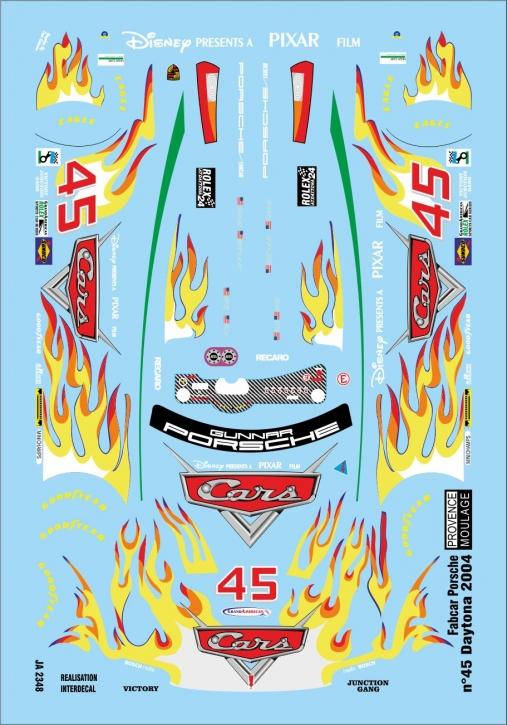 Fabcar Porsche n°45 Daytona 2004  1/43 (110 x 75 mm) JA2348