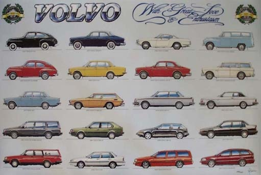 "Volvo Poster  (100 x 70 cm) ""limited edition"""