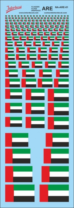 Flaggen Vereinigte Arabische Emirate Decal (180x70 mm)