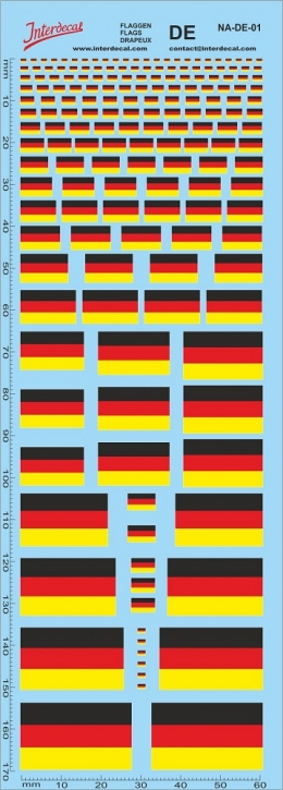 Flaggen Deutschland Decal (180x70 mm)