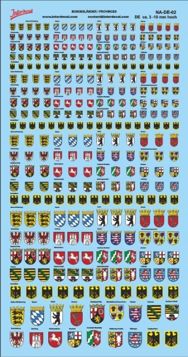 Wappen Deutschland Bundesländer  (190x100 mm) NA-DE-02
