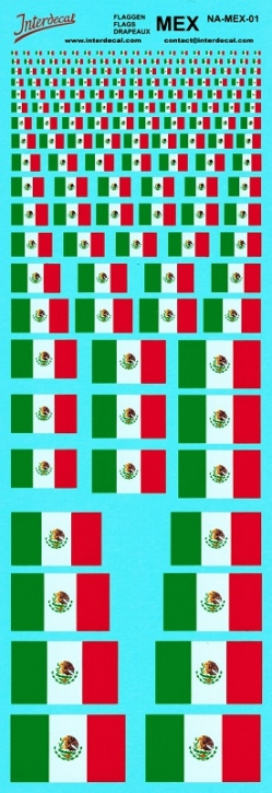 Flaggen Mexico Decal (180x70 mm)