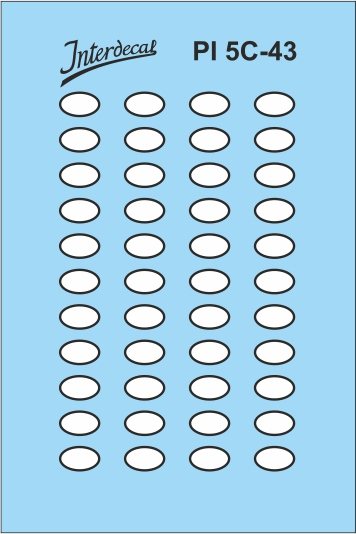 German registration plates 3  oval shape  (45x30 mm)