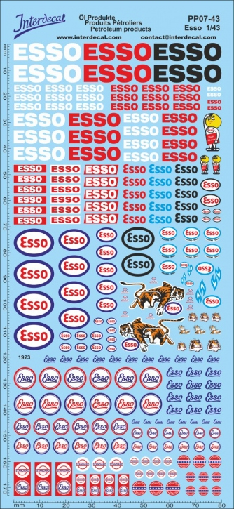 Petroleum products 7 Esso sponsors Decal (195x90 mm)