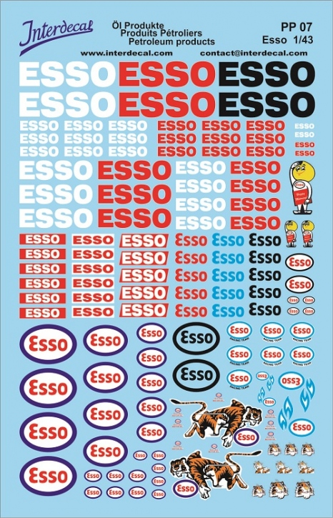 Öl Produkte 7 Esso Sponsoren Decal (140x90 mm)