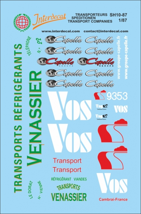 SPEDITIONEN / TRANSPORT COMPANIES / TRANSPORTEURS 1/87 (85x56 mm)