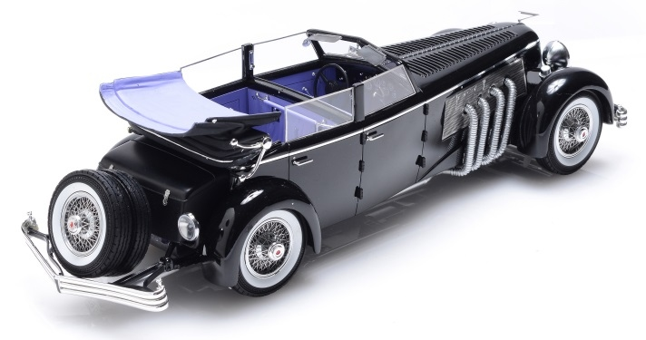 1937 Duesenberg SJ Town Car Chassis 2405 by Rollson for Mr. Rudolf Bauer (fully open with side window up)