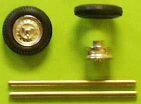 Wheelset (1/43) White metal/plated  ZU0110-0