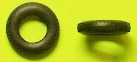 100x Tyre 1/43 Rubber ø= 16,5mm x 4,2mm