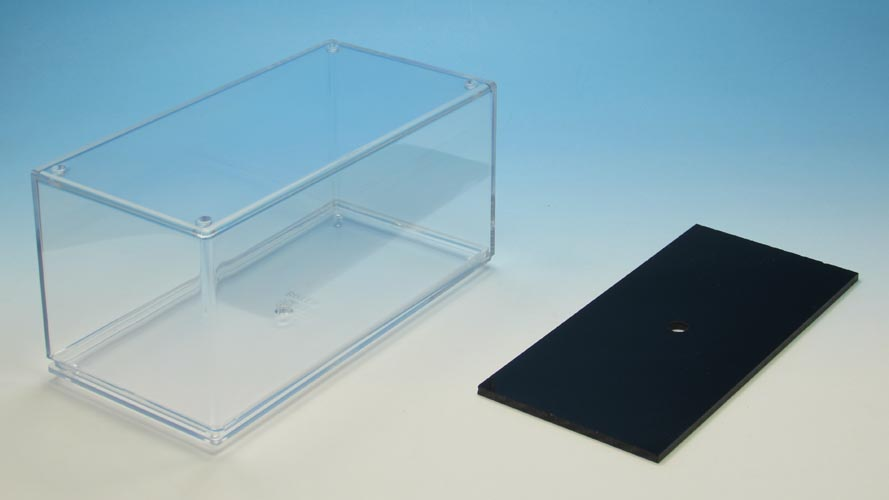 Transparent box and packaging