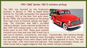 1951 GMC Series 100 5-window pickup