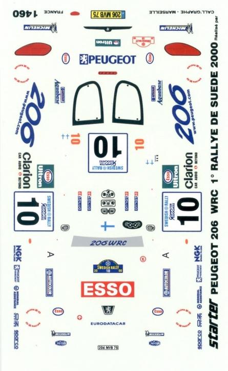Peugeot 206 WRC Rallye de Suede 2000 1/43 JA1460