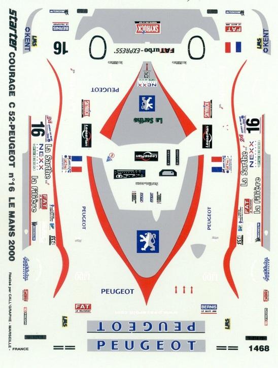Courage C-52 Peugeot no. 16 Le Mans 2000 1/43 JA1468
