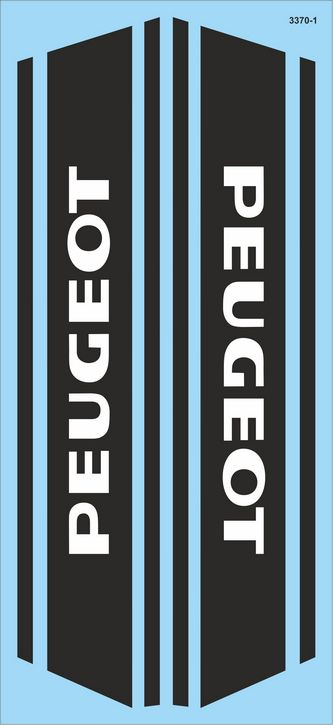 3370-1 Logo Peugeot 01  2x  (220 x100 mm) restore old motorbikes