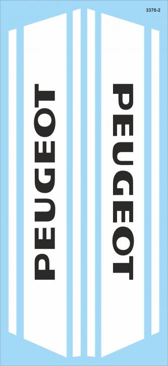 3370-2 Logo Peugeot 02  2x  (220 x100 mm) Restauriere alte Motorräder