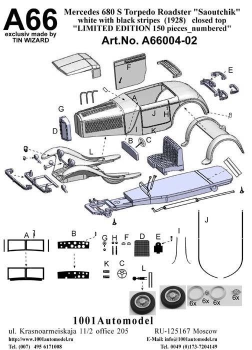 """Mercedes 680 S 26/120/180 PS Torpedo Roadster """"Saoutchik"""" (1928)_chassis no.35966_geschl. Dach"""
