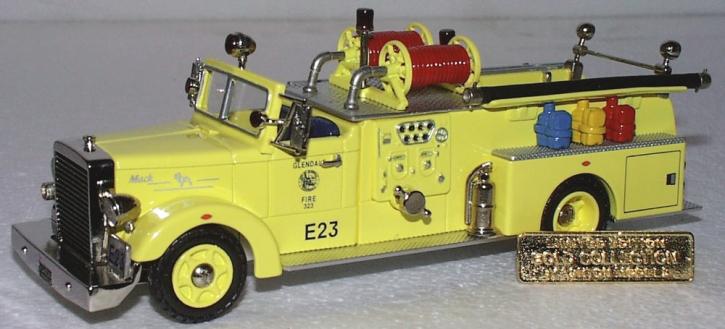 "1954 Mack LT 1000 GAL.Pumper ""Glendale"" Calif. GOLD COL."