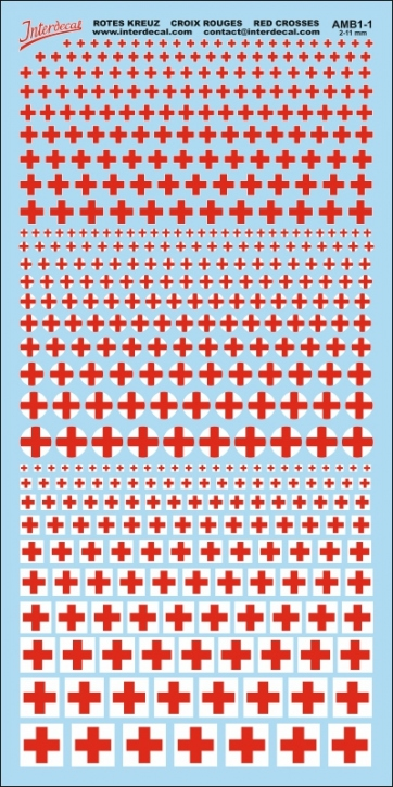 Red Cross Decals 1 (2,0-11,0 mm)