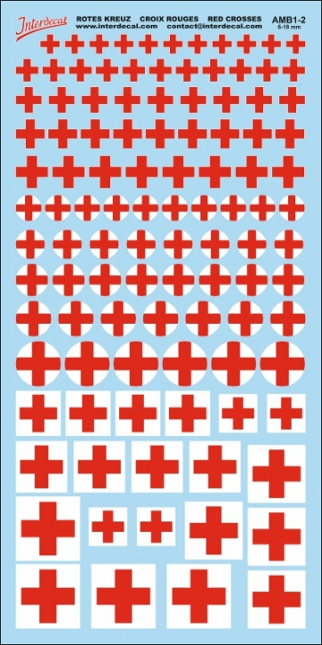 Red Cross Decals 2 (5,0-18,0 mm)