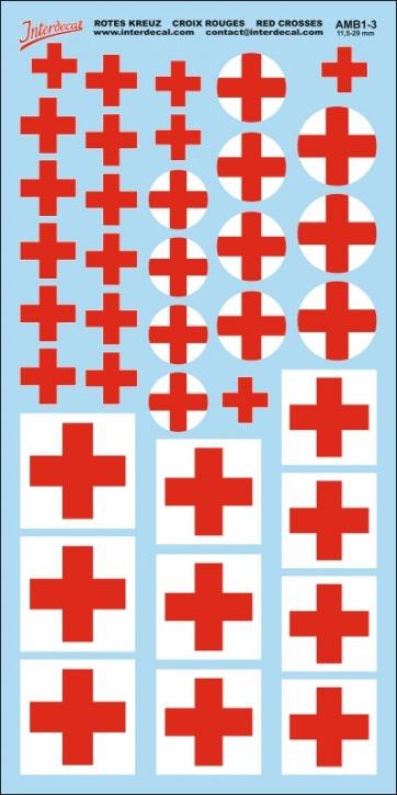 Red Cross Decals 3 (11,5-29,0 mm)