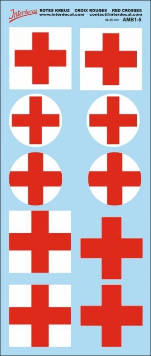 Rotes Kreuz Decals 5   30-35mm (85x200 mm)