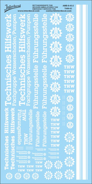 THW  Rettungs Dienste   02  1/43 (210x105 mm)