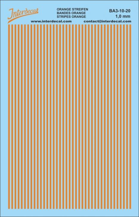 Stripes Decal 1 mm orange (90x140 mm)
