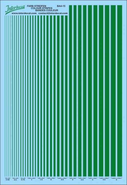 Streifen  0,25 - 5,0 mm  dunkelgrün (130x190 mm)