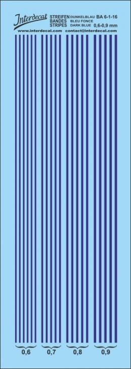 Streifen  0,6-0,9 mm dunkelblau (50x140 mm)